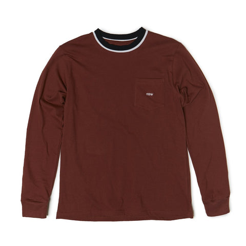 Raised By Wolves - Shatter L/S Pocket Tee - Brick Red