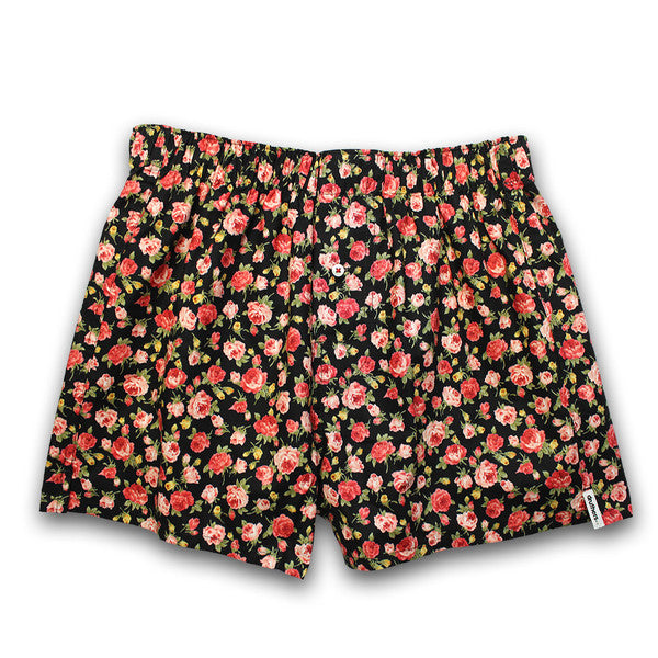 Druthers - Rose Boxer Shorts - Black
