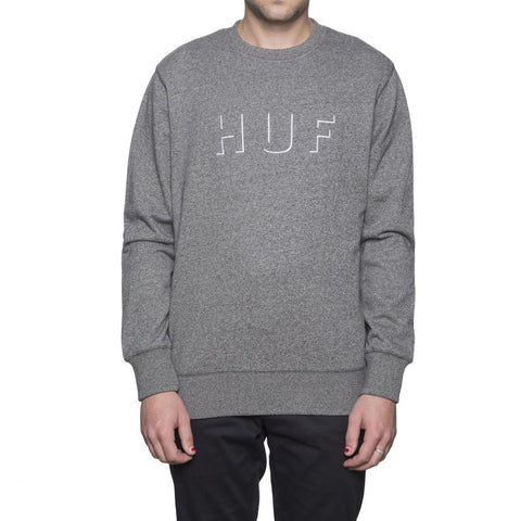 HUF - Shadow Crewneck Fleece - Salt & Pepper Heather