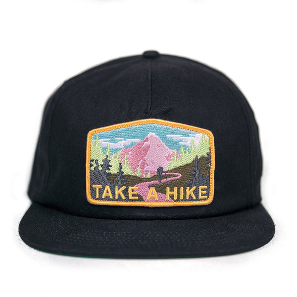 Skate Mental - Take a Hike Snapback - Black Canvas