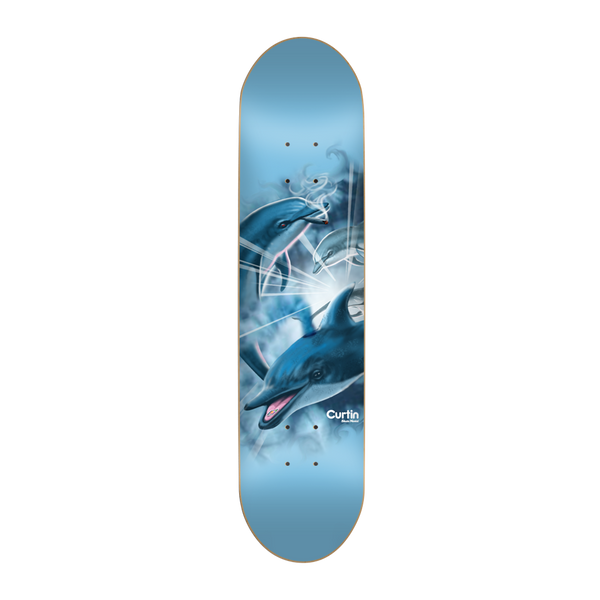 "Skate Mental - Curtin Dolphins 8"" Deck - Multi"