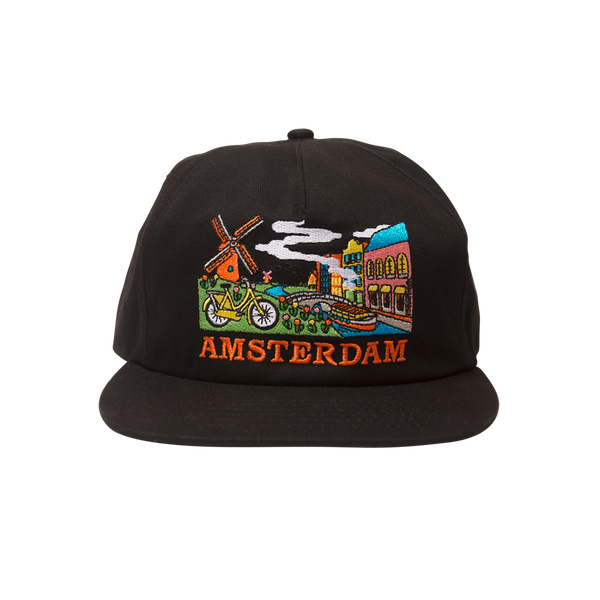 Skate Mental - Amsterdam Tourist Hat - Black Canvas