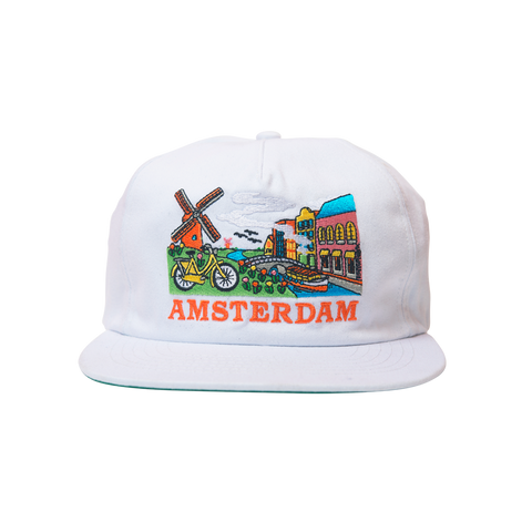 Skate Mental - Amsterdam Tourist Hat - White Canvas