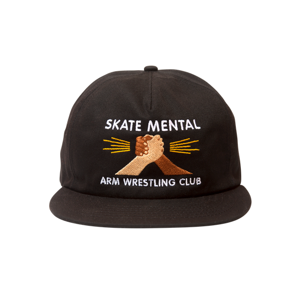 Skate Mental - Arm Wrestling Club Hat - Black