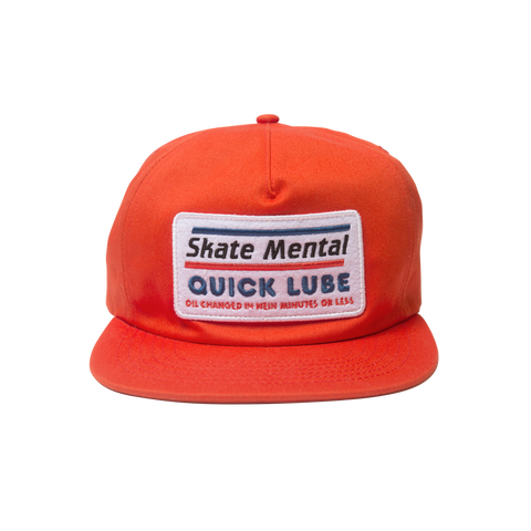 Skate Mental - Quick Lube Hat - Red Canvas
