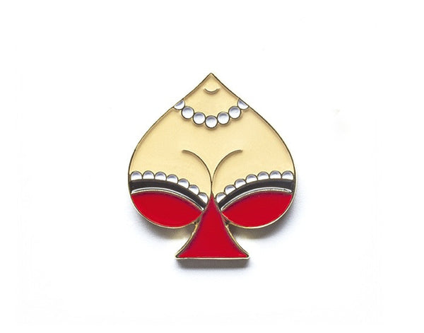 Tom Grunwald - Spade Lapel Pin - Red