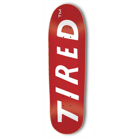 Tired - Uppercase Logo Deck - Red
