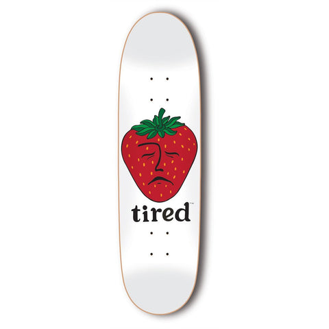 Tired - Strawberry Deck - White