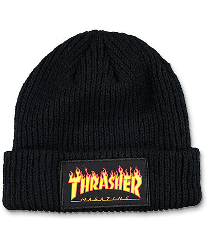 Thrasher - Flame Logo Beanie - Black