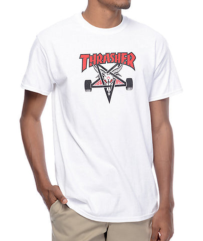 Thrasher - Two Tone SK8GOAT Tee - White