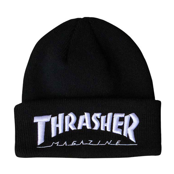 Thrasher - Embroidered Logo Beanie - Black/White