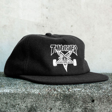 Thrasher - Skategoat Wool Blend Snapback - Black