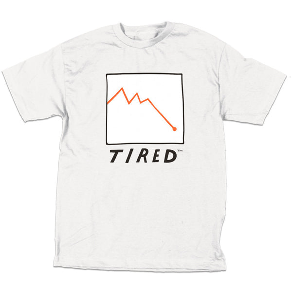 Tired - Stocks Tee - White