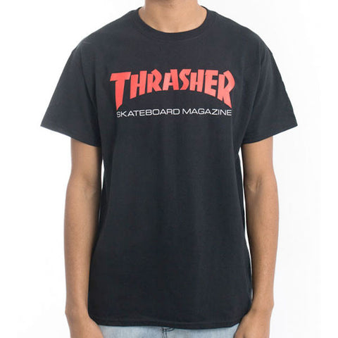 Thrasher - Two Tone SK8MAG Tee - Black