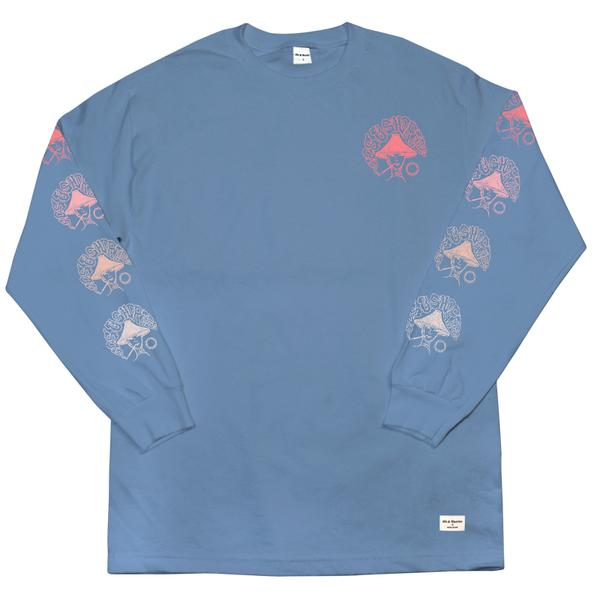 40s & Shorties - Up In Smoke L/S Tee - Slate