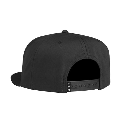 HUF - Wash Canvas Box Logo Snapback - Black