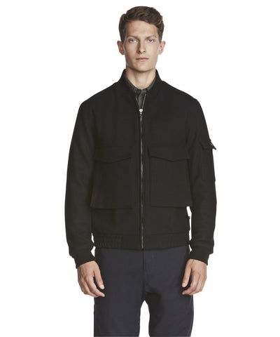 Woolrich - Mill Wool Aviator Jacket - Black