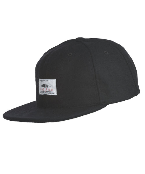 Woolrich White Label - Wool Baseball Cap Solid - Black