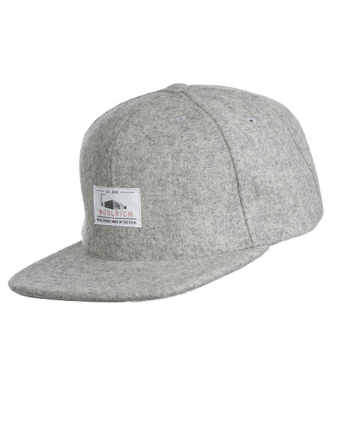 Woolrich White Label - Wool Baseball Cap Solid - Gray Heather