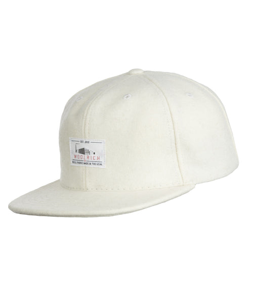 Woolrich White Label - Wool Baseball Cap Solid - Wool Cream