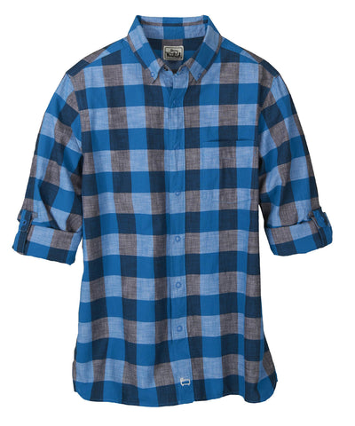 Woolrich White Label - Chambray Buffalo Check Shirt - Blue Jay Buffalo