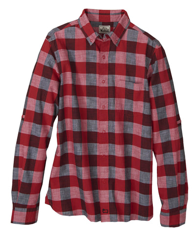 Woolrich White Label - Chambray Buffalo Check Shirt - Old Red Buffalo