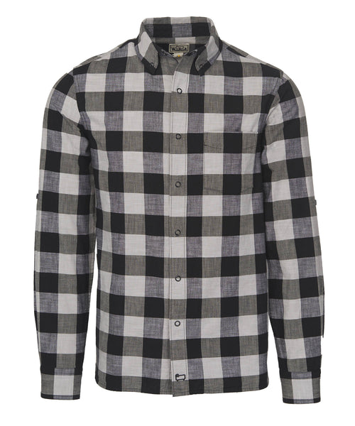 Woolrich White Label - Chambray Buffalo Check Shirt - White/Black Buffalo