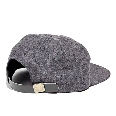 Paterson - Brushed Wool Club Hat - Charcoal