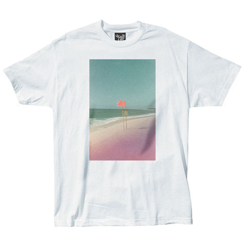 The Quiet Life - Beach Photo T-Shirt - White