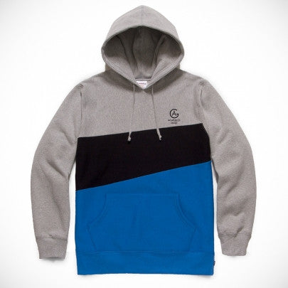 Acapulco Gold - Paneled Pullover Hoodie - Heather Grey Top