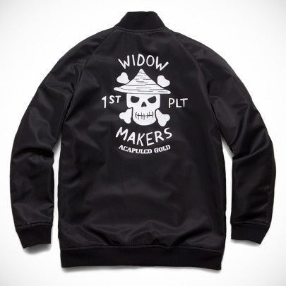 Acapulco Gold - Widow Makers Satin Bomber - Black