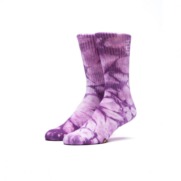 HUF - Acid Crew Sock - Purple Tie Dye