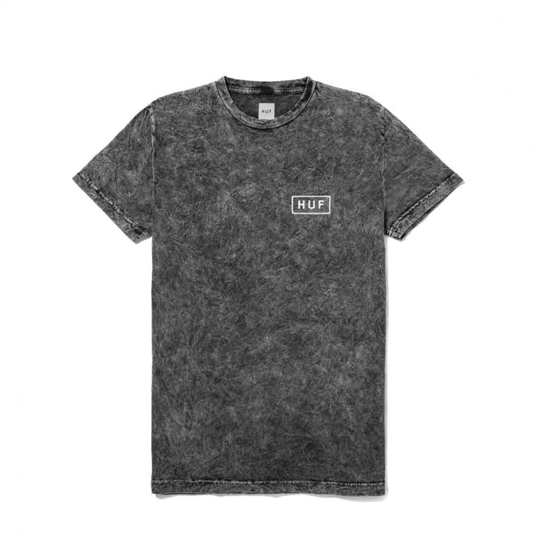 HUF - Acid Wash Bar Logo Tee - Black