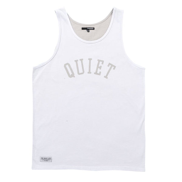 The Quiet Life - Two Faced Tank - White/Heather