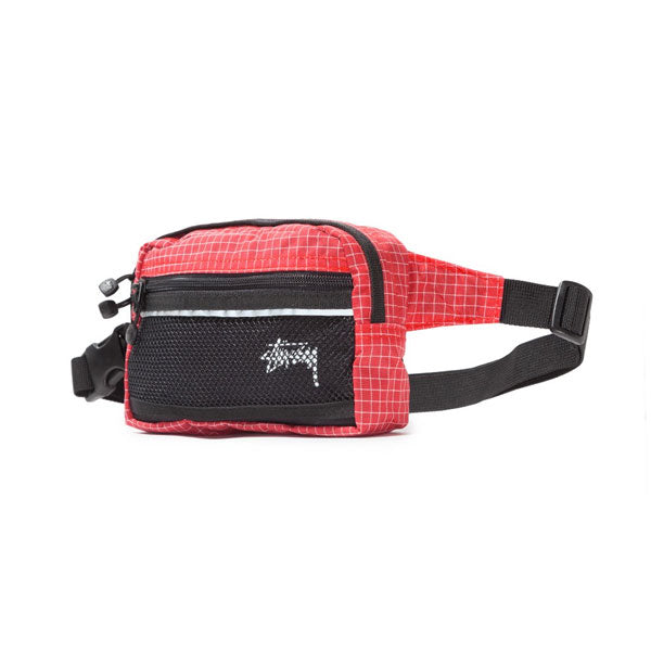 Stussy - Ripstop Nylon Waist Bag - Red