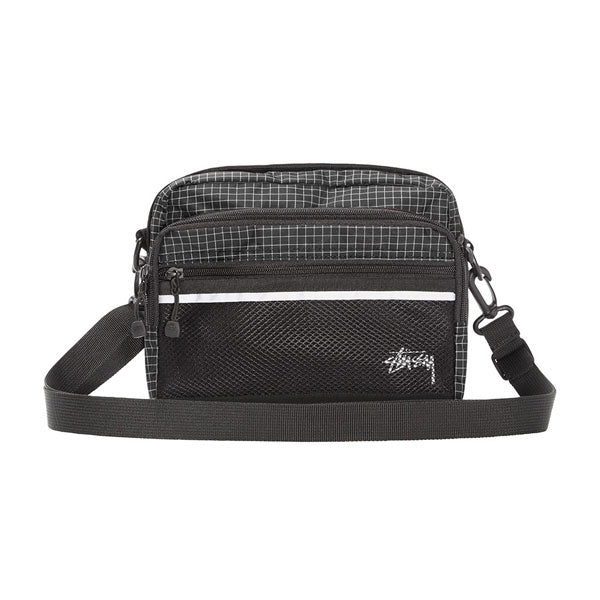 Stussy - Ripstop Nylon Shoulder Bag - Black