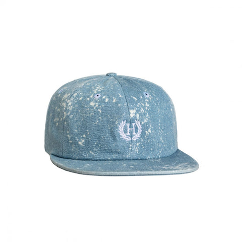 HUF - Bleached Denim Crest 6 Panel Cap - Overbleached Splatter