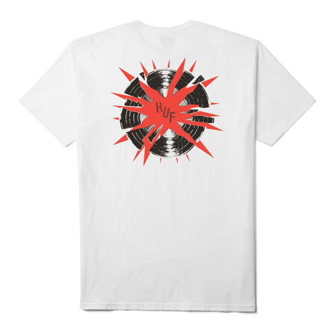 HUF - Broken Record Tee - White
