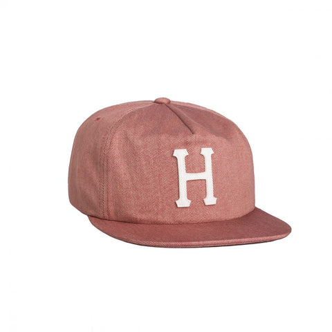 HUF - Denim Classic H Snapback Cap - Red