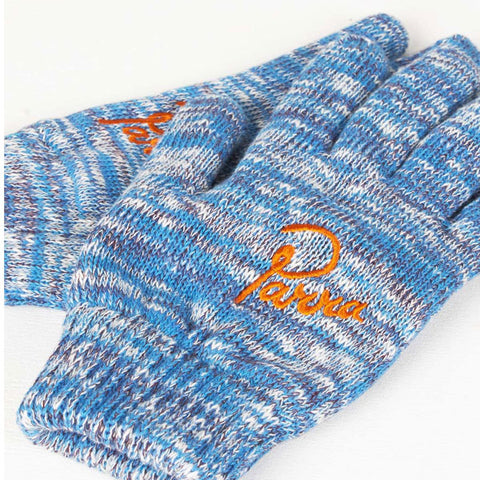 By Parra - Knitted Gloves - Mix of Blue, Purple, and Off White