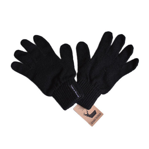 Raised by Wolves - Jarry Gloves - Black Wool/Deerskin