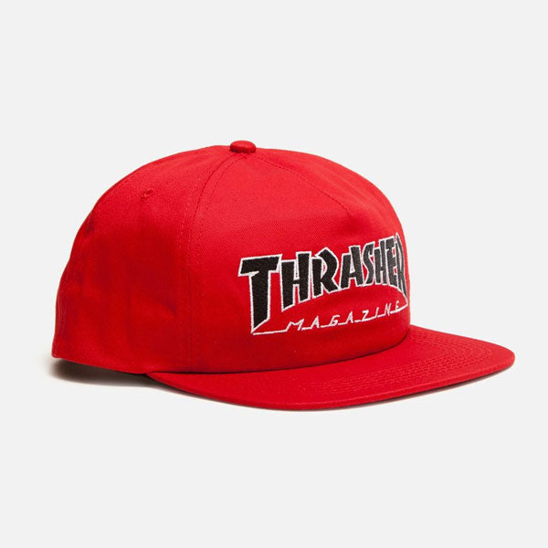 Thrasher - Outlined Snapback Hat - Red