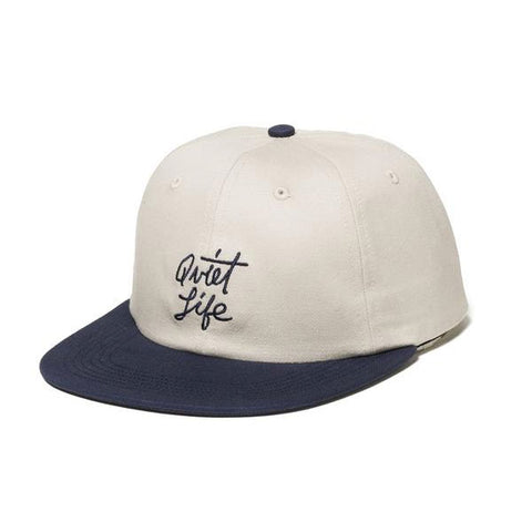The Quiet Life - Cursive Polo Hat - Stone/Navy