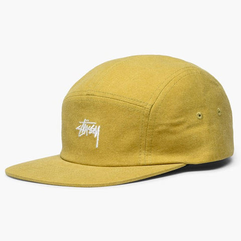 8dc4ca08d55 Stussy - Washed Oxford Canvas Camp Cap - Mustard ...