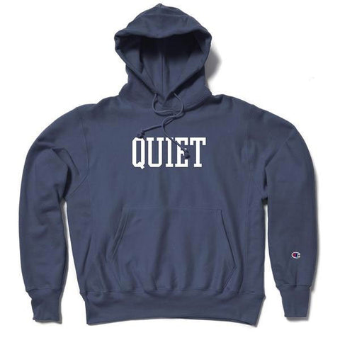 The Quiet Life - Champ Reverse Weave - Navy Hood