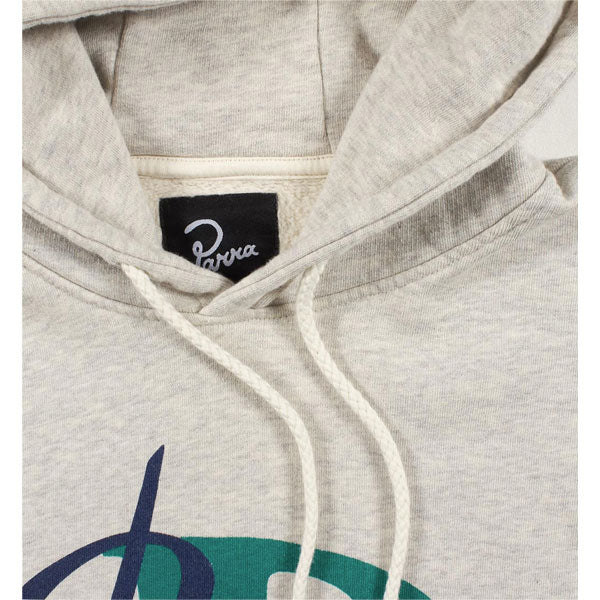 By Parra - Painterly Script Hooded Sweater - Oatmeal