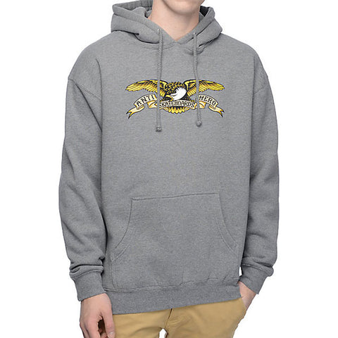 Anti Hero - Eagle Hooded Sweatshirt - Gunmetal Heather