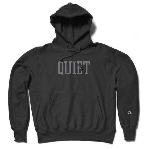 The Quiet Life - Champ Reverse Weave - Black Hood