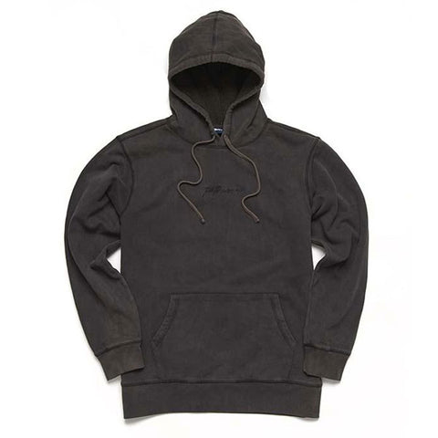 Paterson - Script Over Dyed Pullover Hoodie - Black