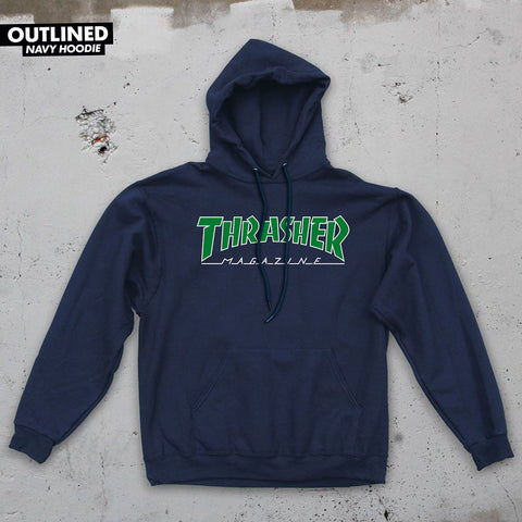 Thrasher - Outlined Hoodie - Navy